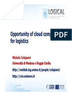 2012-10-30 Opportunity of Cloud Computing for Logistics