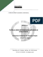 Apostila - Tutela dos Interesses Difusos e Coletivos (Em sentido amplo Inquérito Civil).pdf