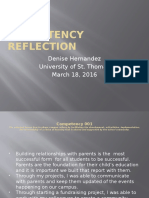 competency reflection