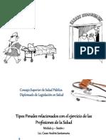 Tipos Penales Relacionados Con El Ejercicio de Las Profesiones de La Salud 2016P