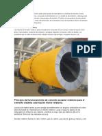 El Secador Rotatorio Es Ampliamente Usado Para Secado de Materiales en a Industria de Cemento