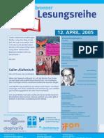 Salim Alafenisch liest in der Heilbronner Lesereihe
