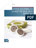 Materiales Para La Clase de ELE 2012 Nivel A1