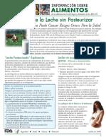 Los Riesgos de La Leche Sin Pasteurizar