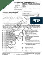 Caregiver-Teacher Report Form for Ages
