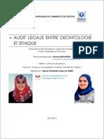 Code de déontologie de l'audit interne.