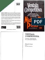 La Ventaja Competitiva, Creación y Sostenimiento de Un Desempeño Superior - Porter, Michael