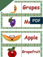 2.Sınıf Fruit - Domino Oyunu