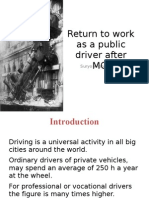 Return to Work as a Public Driver After