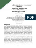 Venezuela La Relación Estado Sindicatos 1999_2005
