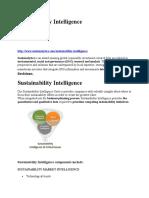 Sustainability Intelligence