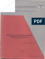 Manual Para Defensores Publicos Penales - Ano 2000 - PORTALGUARANI