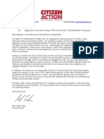 Letter of Support for Parole Voting