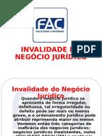 Fnj - Invalidade Do Negócio Jurídico-fac