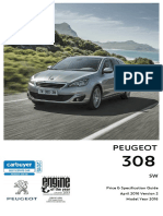 Peugeot 308 Sw Prices and Specifications Brochure 1