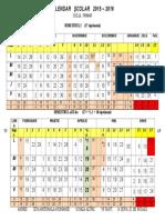 Calendar Scolar 2015-2016