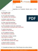 Exercícios Past Simple 7º Ano Com Respostas