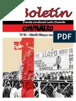 Boletín Frente Sindical León Duarte Abril-mayo