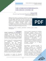 Evolutia Indicatorilor de Perfomanta Ai Companiei de Constructii