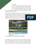 Ecosistemas en El Ecuador