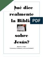 Qué dice realmente la Biblia sobre Jesús( formato word)