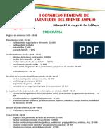 I Congreso Regional de Juventudes Del Frente Amplio