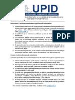 UPID - Indicaciones Para Instructores