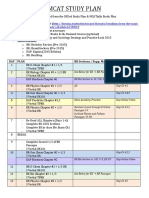 2015 MCAT Study Plan