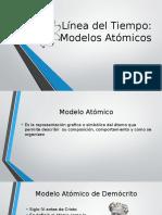 Línea Del Tiempo Modelos atomicos