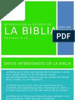 Introducción Al Estudio de La Biblia