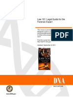 Law 101 Legal Guide for the Forensic Expert