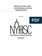 2016-05-03 New Yorkers for a Human Scale - Compiled Possible Pay-To-Play (de Blasio)