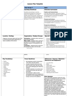 lesson plan template dance new