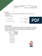 Repaso de Matrices - Sra. a. Despiau