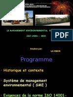 Formation ISO 14001V2004