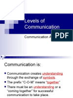 2008-09-03 - Five Levels of Communication