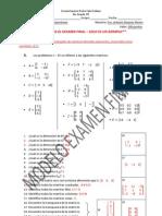 Modelo Examen de Matrices