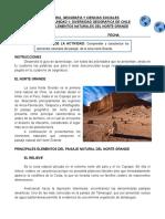 CLASE 3 - 5° BASICO - UNIDAD 1 - ELEMENTOS NATURALES DEL NORTE GRANDE (GUIA N° 2)