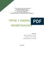 Tipos y Diseño de La Investigación