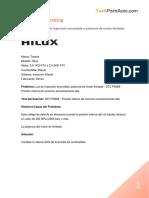 Ayuda Técnica - Toyota Hilux