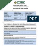 Syllabus Contaminación Industrial Marzo- Agos 2016
