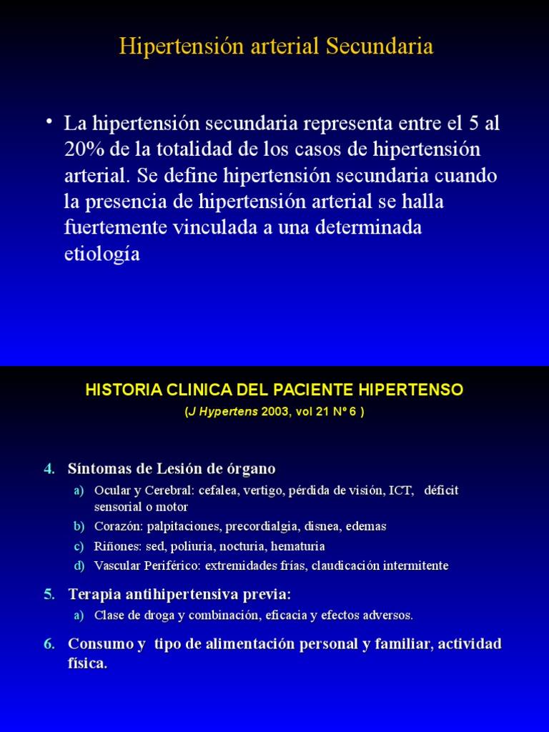 Hipertensión 20/10 visión
