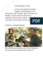 Predictions in the Philippines