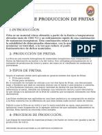 Proceso de Producion Del Fritas
