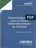 Recomendaciones Para El Calculo Hidrometeorologico de Avenidas-Javier Ferrer Polo-CEDEX Ok