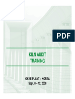 Kiln Audit Training Introduction