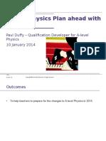 A Level Physics Plan Ahead With AQA