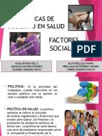 Politicas de Gobierno y Factores Sociales