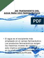 Sistema de Tratamiento Del Agua Para Uso Farmacéutico