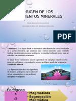 Origen de Los Yacimientos Minerales
